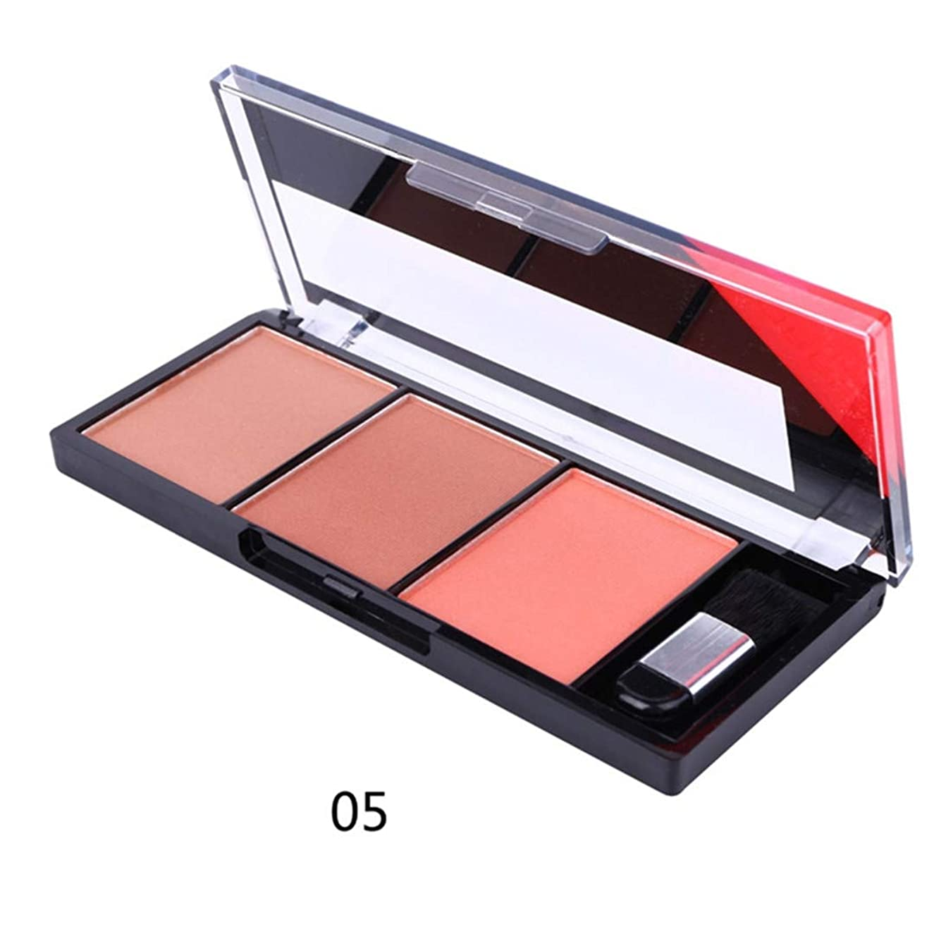 3 Colors Natural Long-Lasting Blusher Powder Palette Shimmer Highlighter Blush Cheek Makeup Tool WH998 as picture4