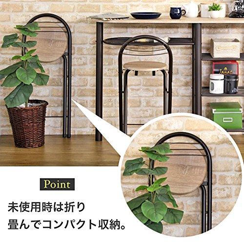 イワツキ(Iwatsuki)『テーブル3点セットハイタイプカウンターテーブルカウンターチェアセットCT-1200』