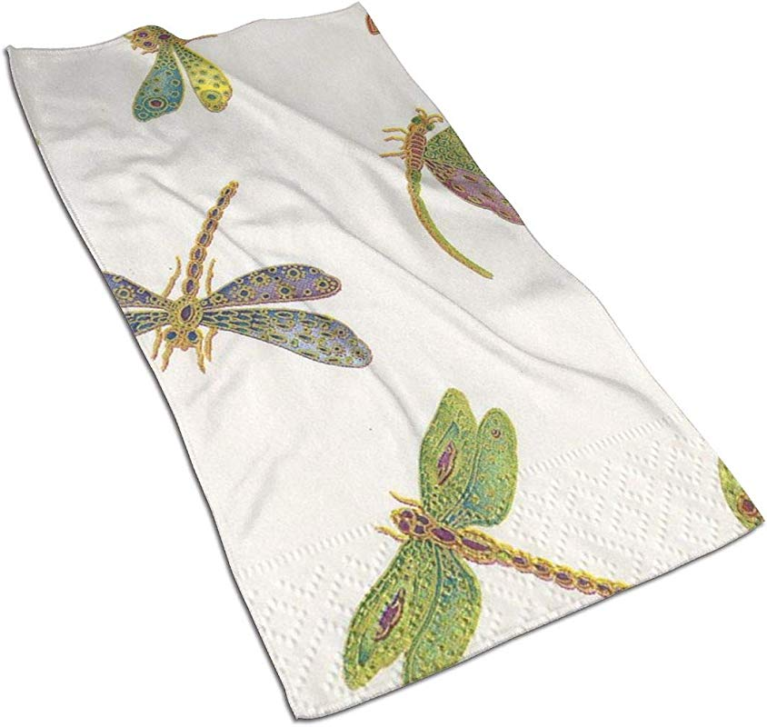 Asdfaf Entertaining With Caspari Dragonflies Kitchen Towels Dish Cloth Machine Washable Cotton Kitchen Dishcloths Dish Towel Tea Towels For Drying Cleaning Cooking Baking