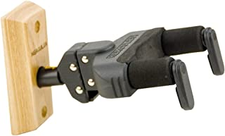 Hercules GSP38WB Mountable Acoustic Guitar Wall Hanger with Wood Base and Auto Grip System