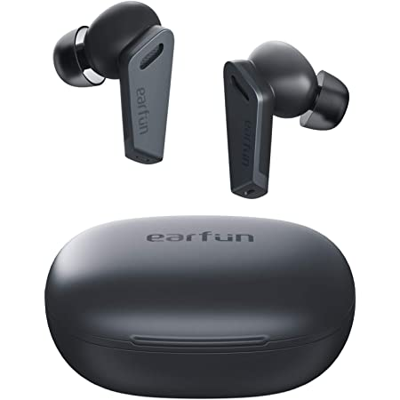 EarFun Air Pro Wireless Earbuds, Hybrid Active Noise Cancelling, Bluetooth 5.0 Earbuds with 6 Mics ENC, Stereo Deep Bass, 32H Play Time with USB-C Charge, in-Ear Detection Headphones
