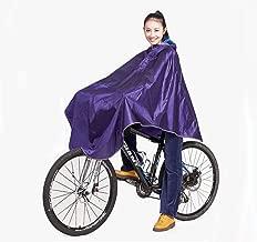 Mens Womens Cycling Bicycle Bike Raincoat Rain Cape Poncho Hooded Windproof Rain Coat Mobility Scooter Cover
