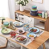 Vancasso Tafelservice Porzellan, Tafelservice bunt, Macaron 48 teilig Geschirrset, mit je 12 Speiseteller, Dessertteller, Müslischalen und Kaffeebecher für 12 Personen - 7