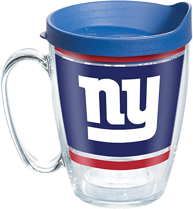 Tervis 1257625 NFL New York Giants Legend Tumbler With Wrap And Blue Lid 16oz Mug Clear