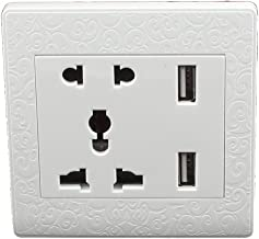 Aexit AC 110V-250V Distribution electrical AU EU UK US Socket 2 USB Outlet Charging DC 5V 2100mA Mains Power Wall Plate