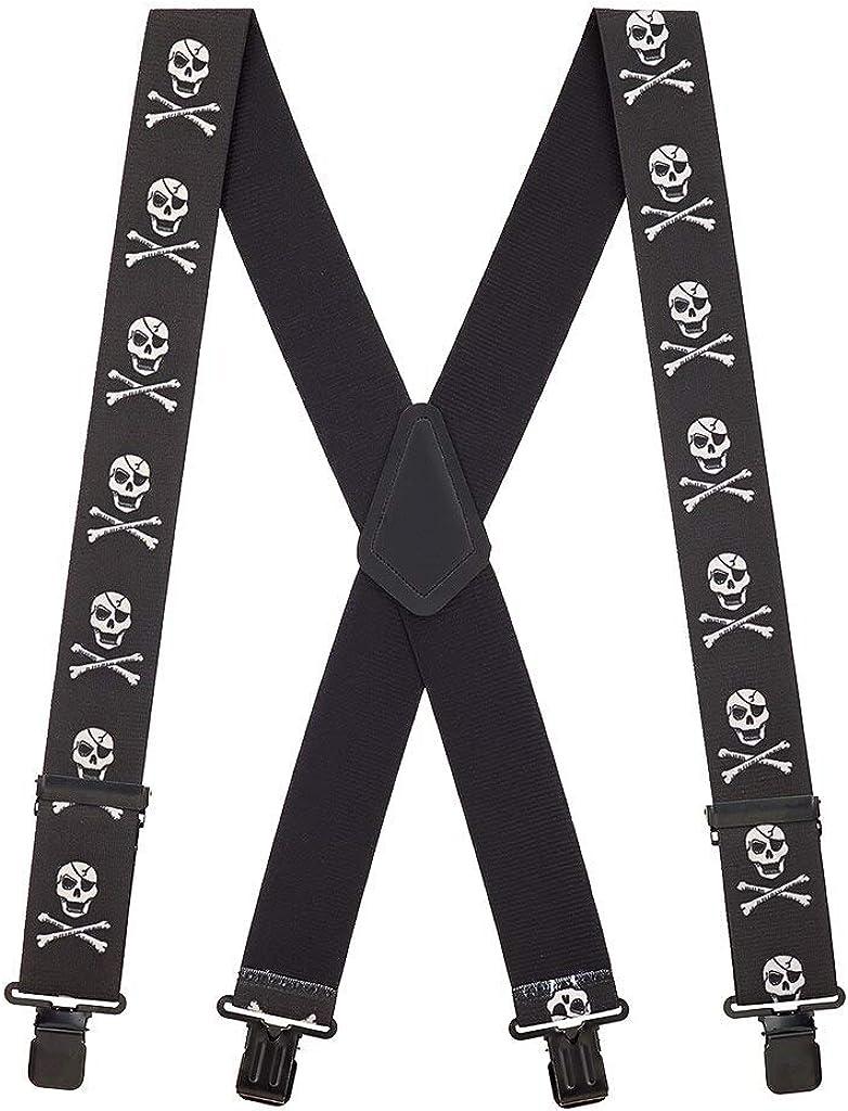 SuspenderStore Men's Skull Suspenders and Ranking TOP9 Sale Special Price Crossbones