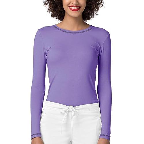 7a4d0e2c474f Adar Womens Comfort Long Sleeve Fitted T-Shirt Underscrub Tee