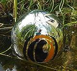 Jürgen Bocker Gartenambiente Reiherschreck Edelstahl poliert magisches Auge Schwimmkugel Teichkugel Taubenschreck