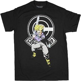 Dragon Ball Z Shirt Men's Capsule Corp Trunks Character Black Adult T-Shirt