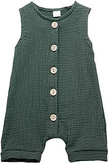 Infant Newborn Baby Boys Girls Cotton Linen Romper Summer Jumpsuit Sleeveless Overalls Clothing Set