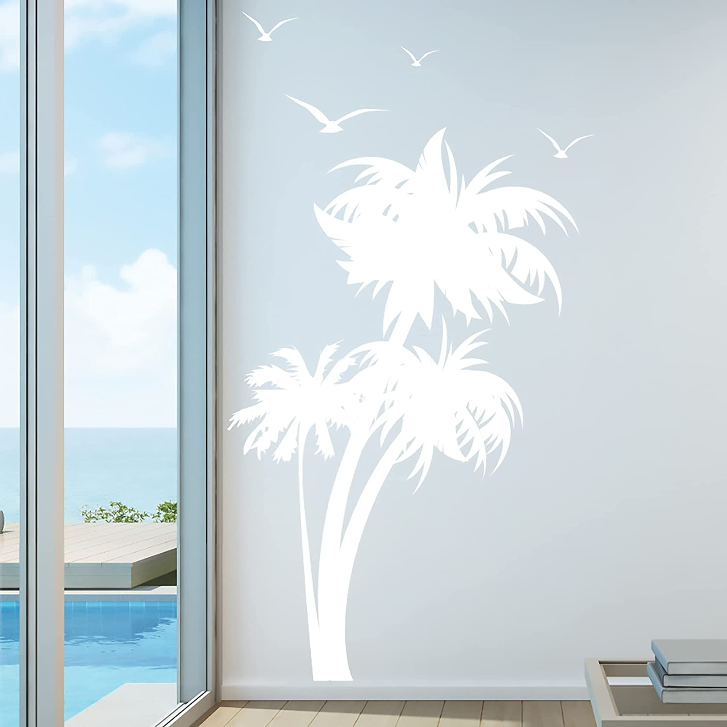 Outlet ☆ Free Shipping Innovative Stencils 1132 84 Max 70% OFF mwhite Palm Tree Nursery Wal Coconut