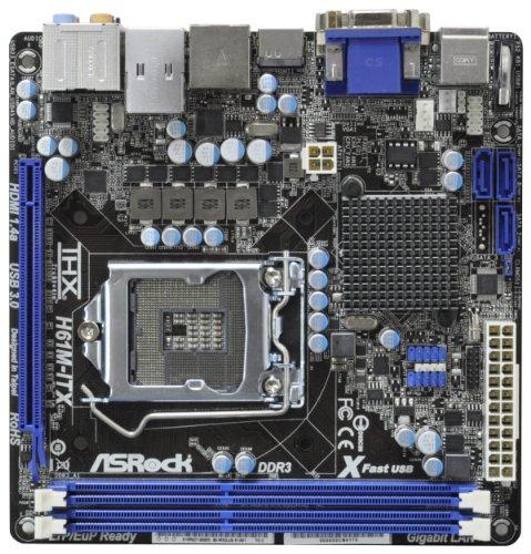 Asrock H61M-ITX Mainboard (Intel H61-ITX , 2x DDR3 Speicher, USB 3.0)