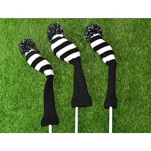 DHTOMC Golf Clubs Iron Head Covers Classic Retro Head Cover Golf Putter Headcover Standard Size Protector With Elastic Knitted Light Durable (Color : C2, Size : Free)
