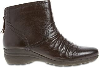 Women/'s Ex MNS Leather Regular fit Wedge Tassle Ruched Ankle Boots RRP£59