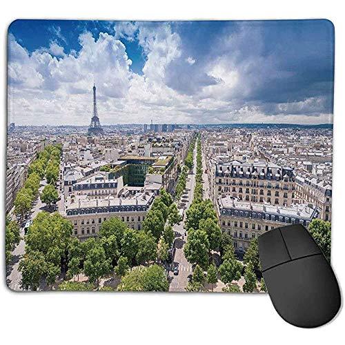Mousepad Europäische Antenne Paris Eiffelturm Französisches Erbe Kultur Architektur Bild Hellblau Cremegrün nch