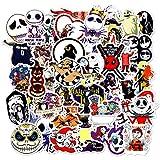 MYLIES Pegatinas Pack [50-PCS], Stickers de Halloween, Vinilo Graffiti Calcomanías, Usado para Botellas de Agua, Moto, Equipaje, Monopatín, Portátiles Pegatina