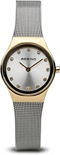 BERING Time 12924-001 Womens Classic Collection Watch with Mesh Band and Scratch Resistant Sapphire Crystal. Designed in Denmark.
