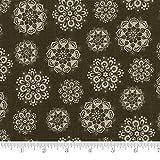 Moda Fabric Petites Maisons De Noel Estelle Fern Green
