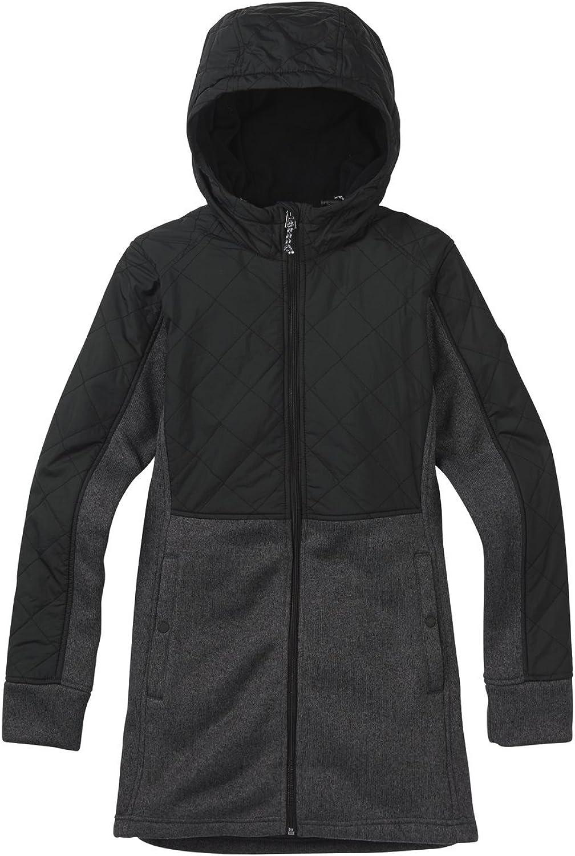 Burton Women's Embry FullZip Fleece Sweater, Large, Canvas Bogolanfini True Black Heather