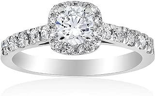 Best 1 carat diamond halo engagement ring Reviews