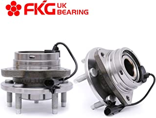 FKG 513214 Front Wheel Bearing Hub Assembly for 04-12 Chevy Malibu, 05-10 Pontiac G6, 07-09 Saturn Aura, 08-10 Chevy Cobalt HHR SS ONLY, 5 Lugs W/ABS Set of 2