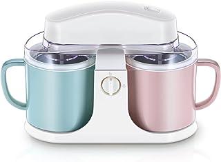 Ice Cream Maker Machine,Home Soft Gelato Maker,Hemlagad glass med förfrysning,1000 ml kapacitet,design med dubbla tunnor,a...