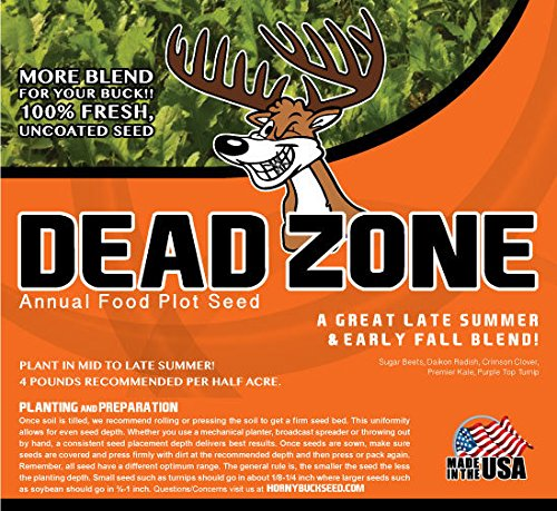 Horny Buck Food Plot Seed for Deer - Dead Zone Blend Mix