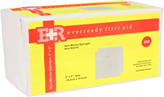 """Ever Ready First Aid Non-Woven Sponges, 4"""" x 4"""", 4 Ply - 200 Count"""