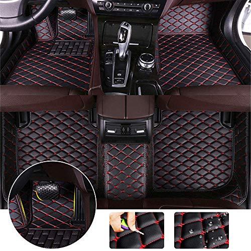 Alfombrillas de Cuero aptas para BMW 320i 325i 330i 335i E92 2008-2011 Coupe 3D Protección Completa Accesorios para automóviles Negro...
