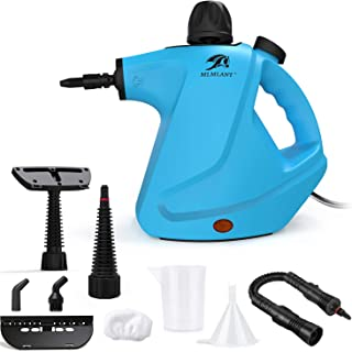 comprar comparacion MLMLANT Limpiador de Vapor presurizado de Mano, 450ml 1050W y 9 Accesorios,Vaporeta Portátil y Manual de Alta Presión