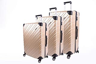 Track Luggage Trolley Bag - 3 Pieces