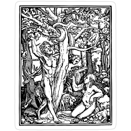 Cool Sticker For Cars, Trucks, Water Bottle, Fridge, Laptops Garden Of Eden Begining Of Creation Naked And Afraid Stickers (3 Pcs/Pack) 818791241134