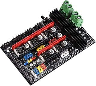 KINGPRINT Ramps 1.6 Plus Expansion Control Panel with Heatsink Upgraded Ramps 1.5/1.6 for 3D Printer Board