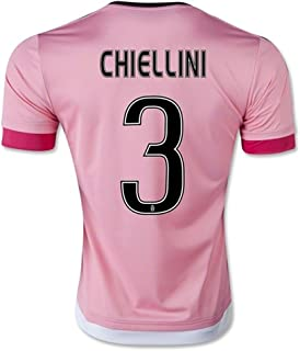 YGDHM Juventus 3 CHIELLINI Away Soccer Jersey Pink