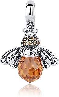 GDDX Honeybee Ladybug Sunflower Dream Catcher Pendant Charm Sterling Silver fit Bracelet for European Bracelets and Necklace