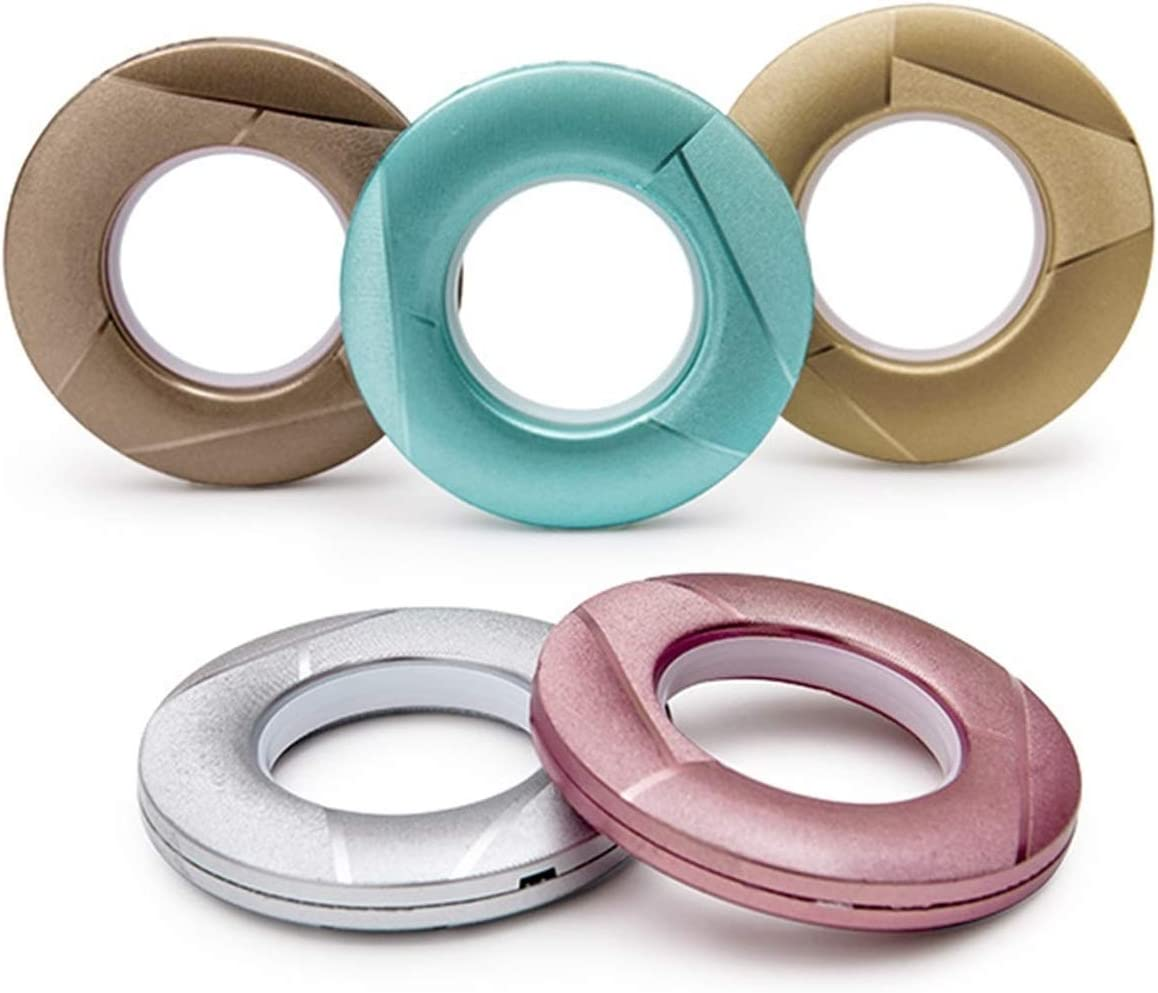 XXXXW Omaha Mall Shower Curtain Rings Perforated Large-scale sale Silent 50PCS Nano