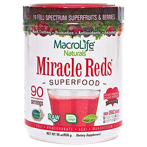 MacroLife Naturals Miracle Reds Superfood – 30oz - 90 Servings
