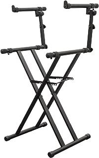 Odyssey LTBXS2 Two Tier X-Stand: Heavy-Duty Double Braced Dj Coffin / Keyboard Stand