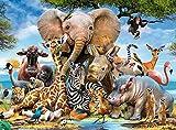 Lunriwis Puzzle de 1000 Piezas para Adultos, Mundo Animal, Ilustraciones de Juegos de Rompecabezas para Adultos, Adolescentes, Rompecabezas de Piso de Impresión de Alta Definición (70 x 50 cm)