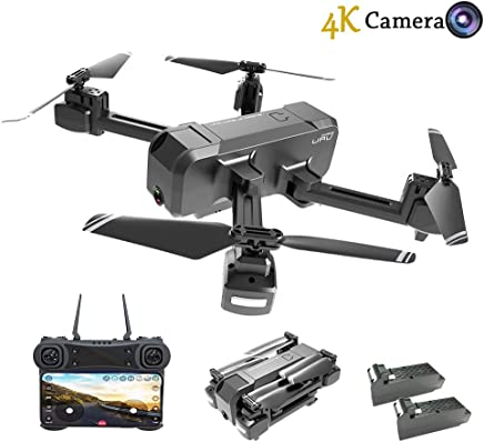 $99 Get HSCOPTER Foldable Drone with WiFi FPV Live Video 4K Camera and 720P Optical Flow Positioning Camera,RC Drone Quadcopter for Adults Kids,Altitude Hold/Headless Mode/Trajectory Flight/APP Control