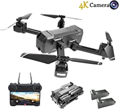 $99 » HSCOPTER Foldable Drone with WiFi FPV Live Video 4K Camera and 720P Optical Flow Positioning Camera,RC Drone Quadcopter for Adults Kids,Altitude Hold/Headless Mode/Trajectory Flight/APP Control