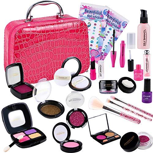 Tacobear Kinderschminke Set Mädchen Makeup Spielzeugset Schminkspielzeug mit Kosmetiktasche...