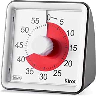 Kirot Visual Countdown Timer Electronic Digital Kitchen Timer, Reading Timer, Quiet Counting, Loud Alarm Sound 60 Minutes Limit Counter, For Classroom Teaching,Homework Games Cooking Office Meeting