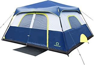 Best OT QOMOTOP Tents, 4/6/8/10 Person 60 Seconds Set Up Camping Tent, Waterproof Pop Up Tent with Top Rainfly, Instant Cabin Tent, Advanced Venting Design, Provide Gate Mat Review