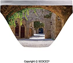 SCOCICI Hipster Panties Ancient Italian Street in a for Women's Bachelor Party
