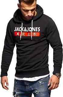 JACK & JONES Herren Hoodie Kapuzenpullover Sweatshirt Pullover Streetwear 4 Elements