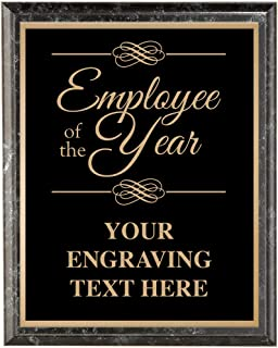 Corporate Employee Recognition Plaques - 7 x 9 Classic Black Etched Recognition Trophy Plaque Awards