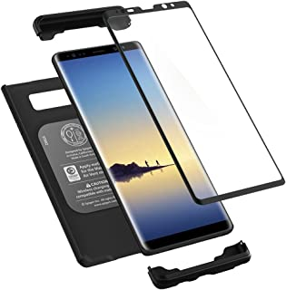 Spigen Thin Fit 360 Designed for Samsung Galaxy Note 8 Case (2017) Tempered Glass Screen Protectors Included - Black