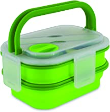 Smart Planet Collapsible Double Decker Meal Kit, 54 oz, Green