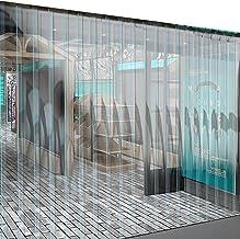 Puerta Cortina Algodón Cortina De La Tira A Prueba De Viento Cortar Cortina Suave De Aire Acondicionado Puerta De Pantalla Suspendida PVC Transparente Espesor De 2,0 Mm Control Climatico En La Puerta
